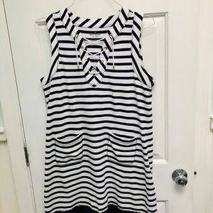 Kate Spade Grommet tie Nautical pullover dress